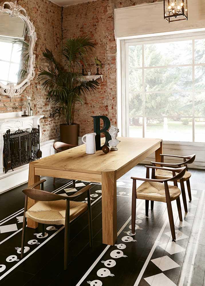 sala da pranzo rustica