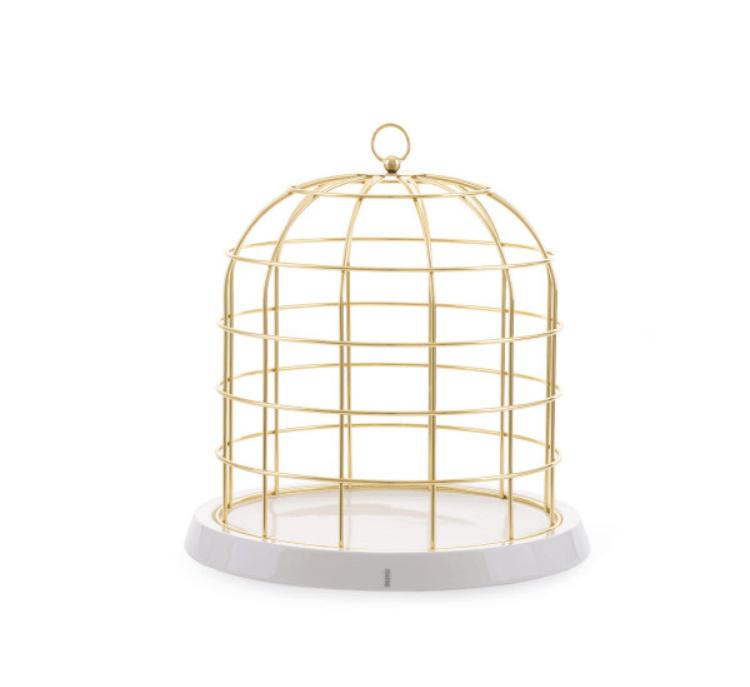 Seletti Twitable Gabbia per Uccelli con Base