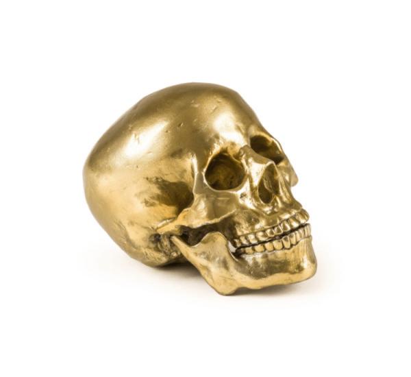 Seletti Wunderkammer – Human Skull – Metallo