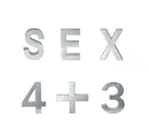 Seletti Metalvetica – Alfabeto in Metallo